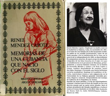 Renee Mendez Capote, Chaple por su madre, nace en la ciudad de ...