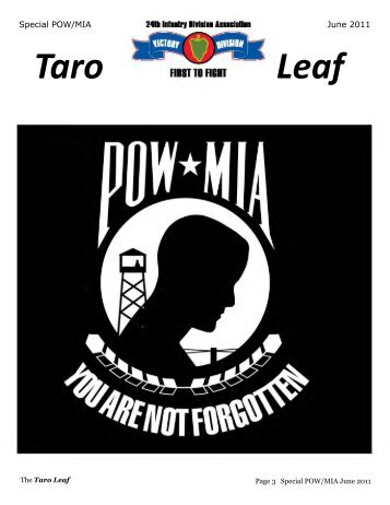 001 pow-mia special 11-06-03 rev - 24th Infantry Division Association