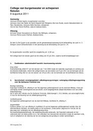 College van burgemeester en schepenen ... - Stad Sint-Niklaas