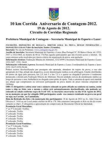 Regulamento - Prefeitura de Contagem