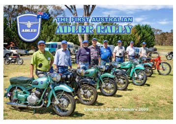 The First Australian Adler Rally, Canberra, January 2009