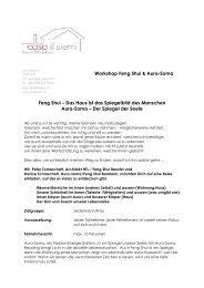 Workshop Feng Shui & Aura-Soma Feng Shui – Das Haus ist das ...