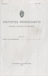 of monthly and quarterly statistics - SSB