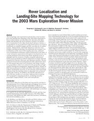 Rover Localization and Landing-Site Mapping ... - CiteSeerX