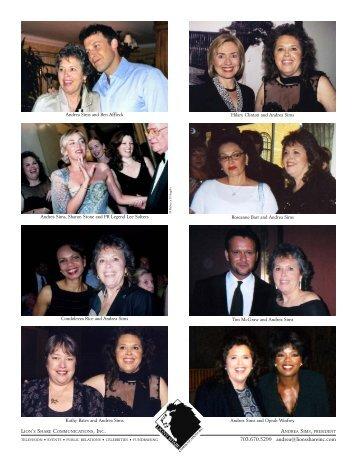 Celebrity Photo Printout - Lion's Share Communications, Inc.