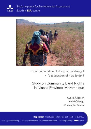 Study on Community Land Rights in Niassa Province, Mozambique