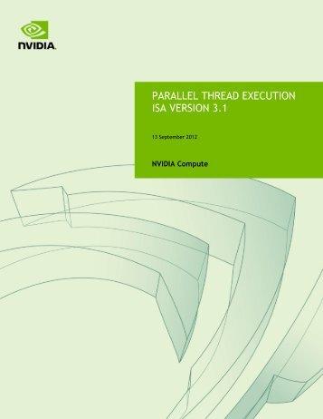 PARALLEL THREAD EXECUTION ISA VERSION 3.1