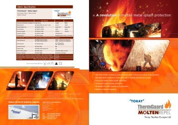 A revolution in molten metal splash protection - Toray Textiles ...