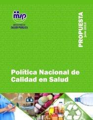 Política Nacional de Calidad en Salud - Ministerio de Salud Pública
