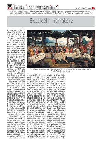 Botticelli narratore - Fondazione Internazionale Menarini