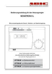 Regler Novatron II L - ABIC Brennertechnik GmbH