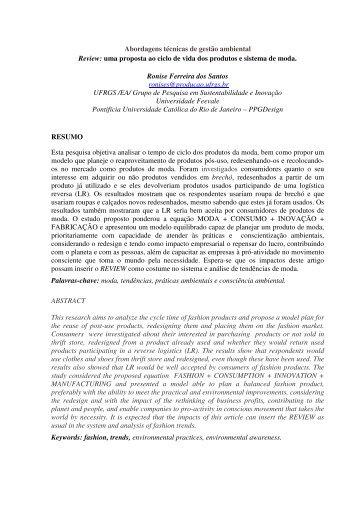 Abordagens técnicas de gestão ambiental Review: uma ... - Engema