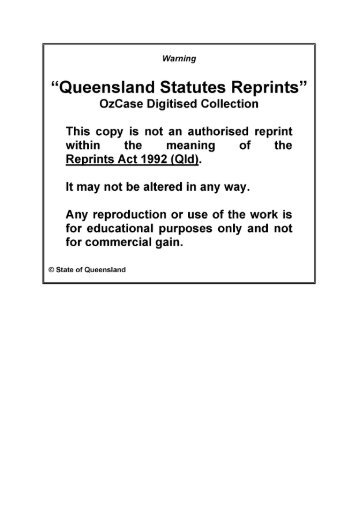 The Criminal Code Act 1899 - Ozcase Queensland Historical Legal ...