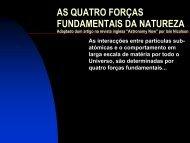 AS QUATRO FORÇAS FUNDAMENTAIS DA NATUREZA - Sapo