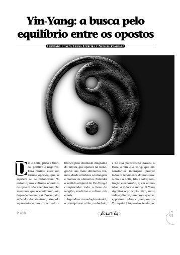 a busca pelo equilíbrio entre os opostos - Portal PUC-Rio Digital