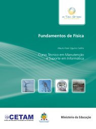 Fundamentos de Física - Rede e-Tec Brasil - Ministério da Educação
