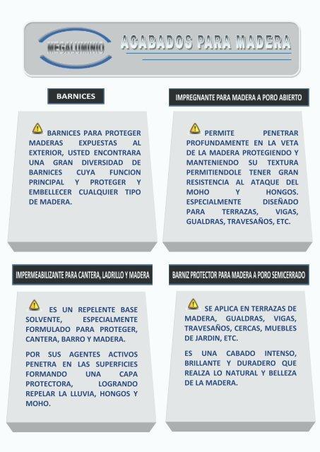 Barnices Para Proteger Maderas Expuestas Al Megaluminio