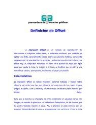 Definición de Offset - Proveedora de las artes graficas