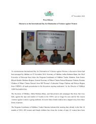 Press Release Discourse on the International Day for ... - Odhikar