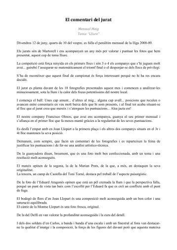 El comentari del jurat - Ajuntament de Gelida