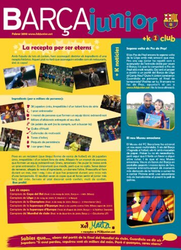 La recepta per ser eterns - FCB Junior
