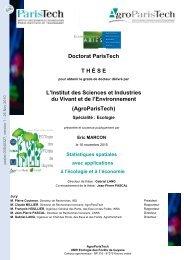 Statistiques spatiales avec applications à l'écologie et à l'économie
