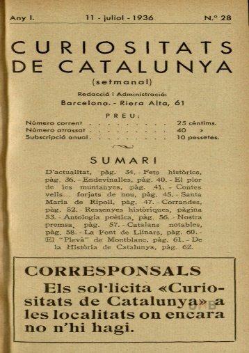 CURIOSITATS DE CATALUNYA