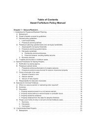 Asset Forfeiture Policy Manual - Department of Justice