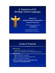 A Tutorial on PAL (Protégé Axiom Language) - Protégé - Stanford ...