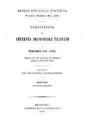 beretninger om amternes økonomiske tilstand i femaaret 1881 ... - SSB
