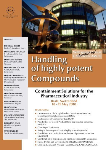 Handling of highly potent Compounds Handling of highly potent ...