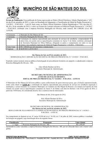 Pregao Presencial nº 114-2012-Prestacao de servicos - Prefeitura ...