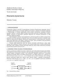 Równania dynamiczne - Akademia Morska w Gdyni