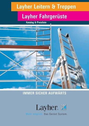 Layher Leitern & Treppen Layher Fahrgerüste - Maler Weik