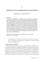 3. Evaluation of a Counselling Service for the Elderly - New Zealand ...