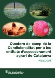 Quadern de camp de la condicionalitat per a les entitats d ... - RuralCat