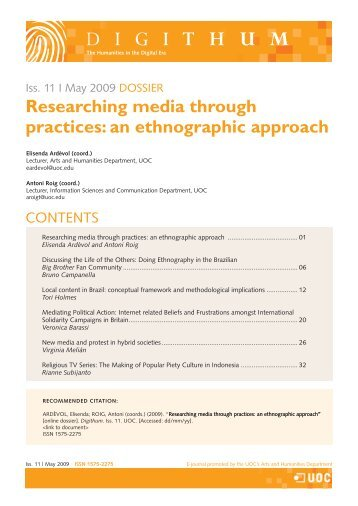 Researching media through practices - Universitat Oberta de ...