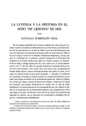 """LA LEYENDA Y LA HISTORIA EN EL SITIO """"DE GERONA ... - Raco"""