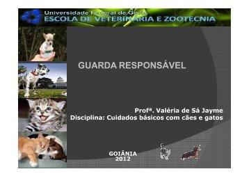 Posse responsável - Escola de Veterinária e Zootecnia