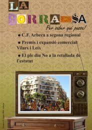Núm 19 - Agost 2010 - Ajuntament d'Arbeca