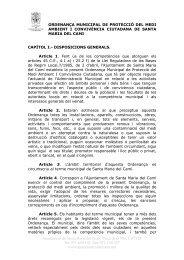 ordenança municipal de protecció del medi ambient i convivència ...