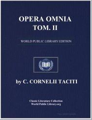 OPERA OMNIA, TOM. II - World eBook Library