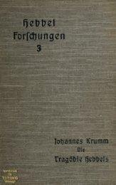 Die Tragödie Hebbels, ihre Stellung und Bedeutung in der ...