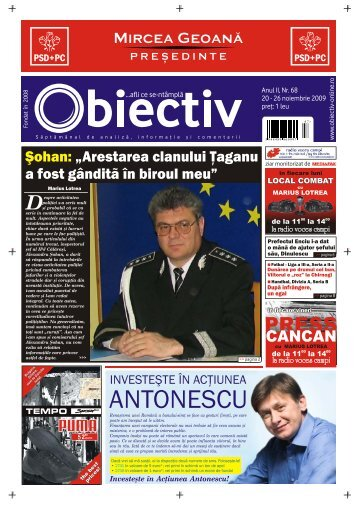 ANTONESCU - Obiectiv