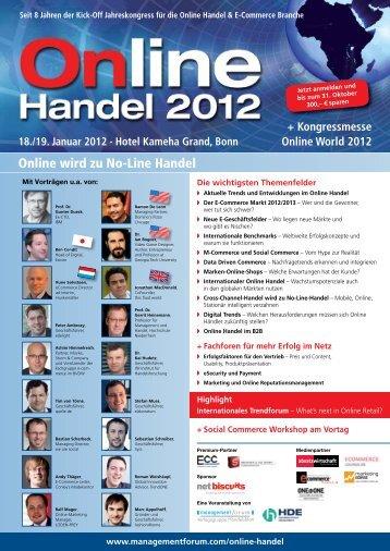 Online wird zu No-Line Handel - Management Forum der Verlagsgruppe ...