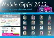 Mobile Gipfel 2013 - Management Forum der Verlagsgruppe ...