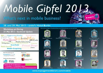 Mobile Gipfel 2013 - Management Forum der Verlagsgruppe ...