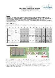Teknisk vejledning Proportional styring 3 kanal