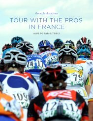 TOUR WITH THE PROS IN FRANCE - Great Explorations