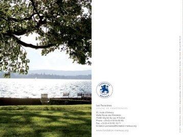 Brochure des Pensières1.38 Mo pdf - Fondation Mérieux